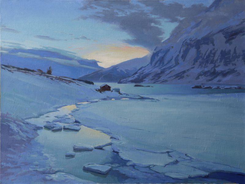 Arctic sunset, 80x60cm