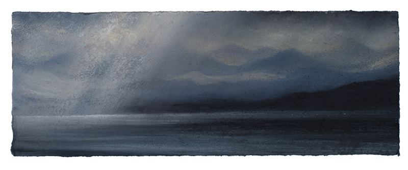 Matthew Draper_Pastel on Paper 2017_fading Light, The Mainland from Skye_15cm x 42cm21
