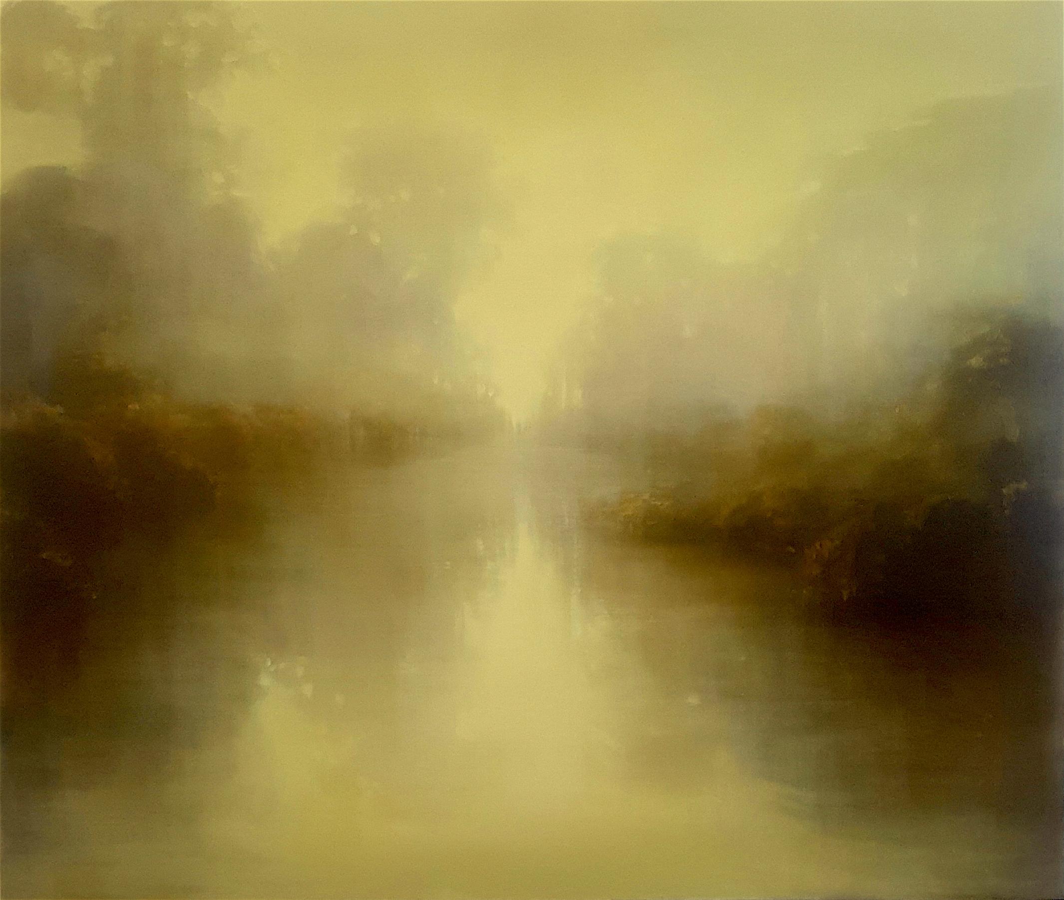 Golden Water's Edge 100 x 122 cm