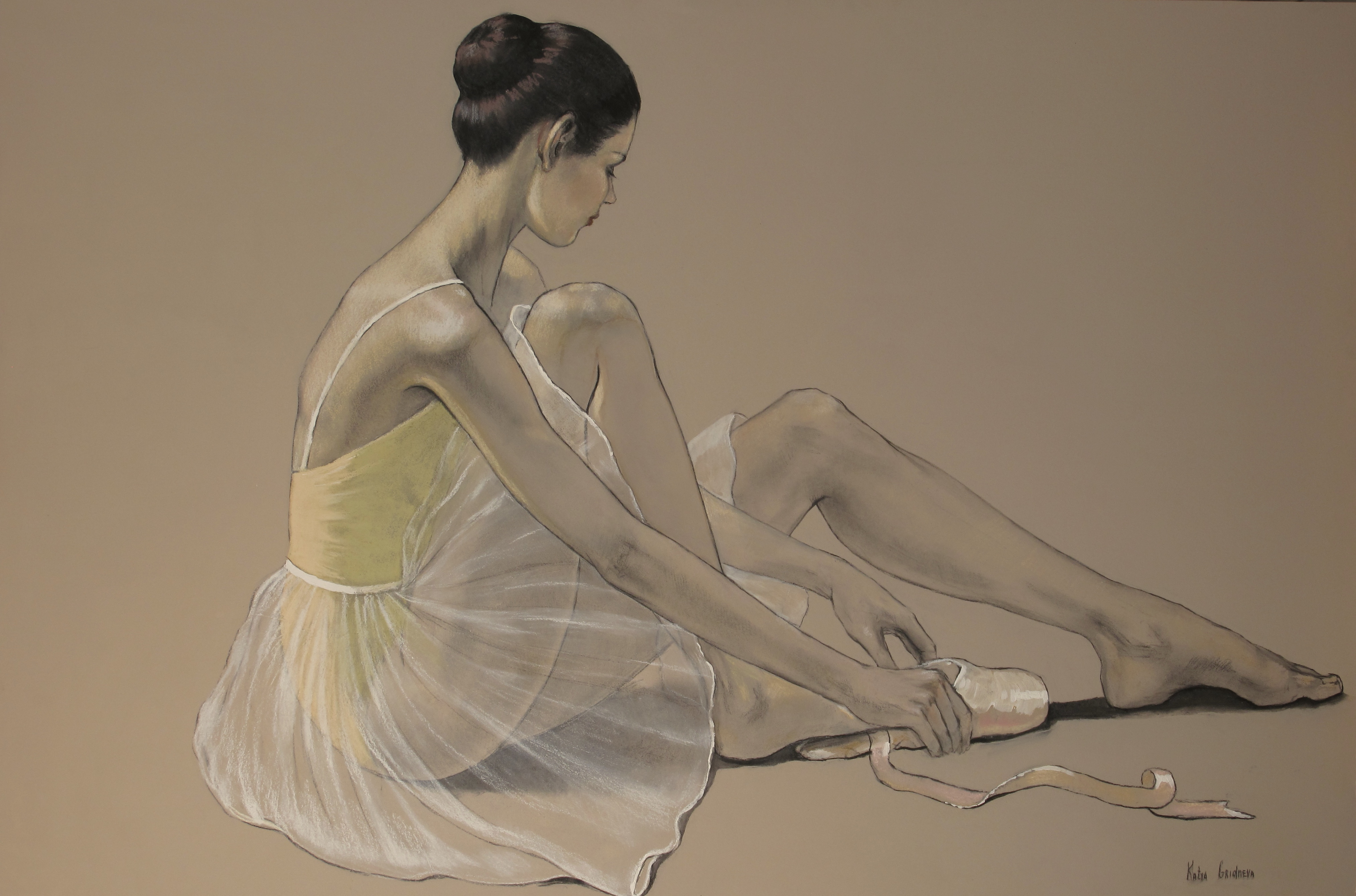 Lacing Up Pastel 24′ x 36′