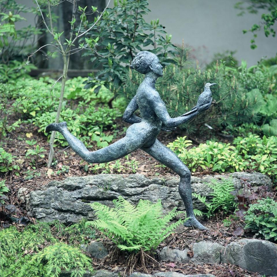 Janis Ridley Messenger with Bird