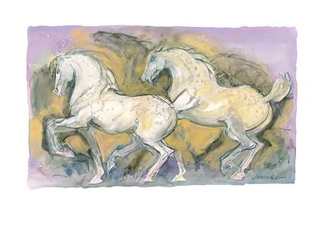 Lilac Horses